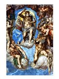 Christ, detail from 'The Last Judgement', in the Sistine Chapel Art Print