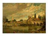The Bridge of Harnham and Salisbury Cathedral Art Print