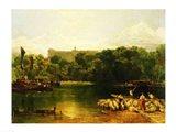 Windsor Castle from the Thames Art Print