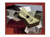 Guitar and Newspaper, 1925 Art Print