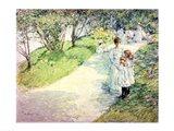 Promenaders in the garden, 1898 Art Print