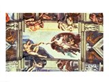 Sistine Chapel Ceiling: Creation of Adam, 1510 Art Print