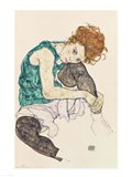 Seated Woman with Bent Knee, 1917 Art Print