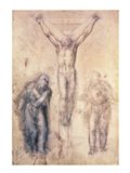Inv.1895-9-15-509 Recto W.81 Study for a Crucifixion Art Print