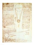 Studies of the Illumination of the Moon 1r from Codex Leicester Art Print