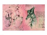 Anatomical drawing of hearts and blood vessels Art Print