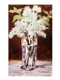 White Lilac in a Crystal Vase, 1882 Art Print
