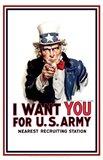 Uncle Sam  - I Want You Art Print