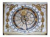 Cathedrale Saint Jean Lyon Astronomical Clock Dial Art Print