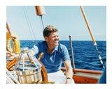 President Kennedy Vacations at Hammersmith Farm Art Print