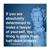 Lincoln Lawyer Quote Art Print
