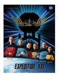 Expedition 21 Star Trek Crew Poster Art Print