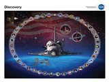 Space Shuttle Discovery Tribute Poster Art Print