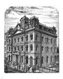 General Post Office 1884 Toronto Canada Art Print