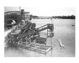 The diving horse at the Hanlan's Point Amusement Park, Toronto, Canada. Art Print