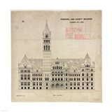 Municipal and County Buildings Toronto July 1887 Art Print
