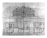 Plans for bank of British North America Toronto Art Print