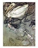 Alice in Wonderland, The Pool of Tears Art Print