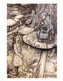 Alice in Wonderland, Advice from a Caterpillar Art Print