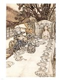 Alice in Wonderland A Mad Tea Party Art Print