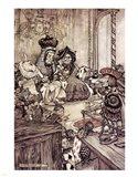 Alice in Wonderland, Who stole the Tarts Art Print