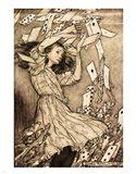 Alice in Wonderland - cards Art Print
