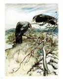 The Two Corbies Art Print
