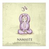 Elephant Yoga, Namaste Pose Art Print