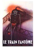 Le Train Fantome Art Print