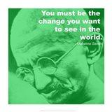 Gandhi - Change Quote Art Print