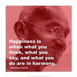 Gandhi - Happiness Quote Art Print