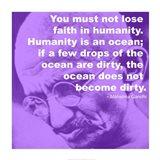 Gandhi - Ocean Quote Art Print