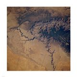 Grand Canyon from space Art Print