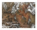 Grand Canyon satellie view from space Art Print