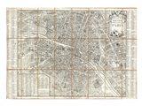 1780 Esnauts and Rapilly Case Map of Paris Art Print