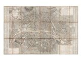 1797 Jean Map of Paris and the Faubourgs, France Art Print