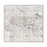 1852 Andriveau Goujon Map of Paris and Environs, France Art Print