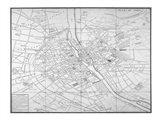 Paris map circe 1739 Art Print