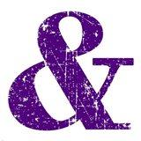 Purple Ampersand Art Print