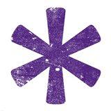 Purple Asterisk Art Print