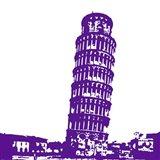Pisa in Purple Art Print