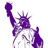 Purple Liberty Art Print
