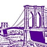 Purple Brooklyn Bridge Art Print