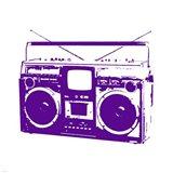 Purple Boom Box Art Print