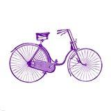 Purple On White Bicycle Art Print