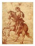 A Saint on Horseback Art Print