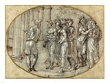 Odysseus and the Daughters of Lycomedes Art Print