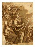 Victory, Janus, Chronos & Gaea Art Print