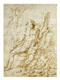 Hercules Resting after Killing the Hydra Art Print