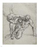 Cupid Overpowering Pan Art Print